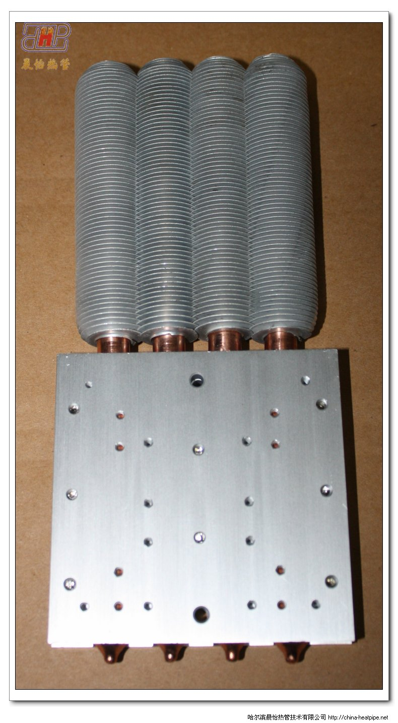 100W大功率LED路灯专用热管散热器