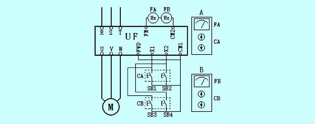 变频调速电位器接线图